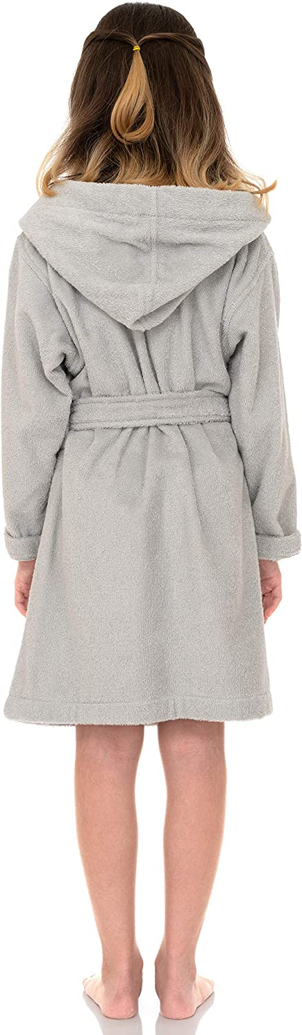 TowelSelections Girls Beach Cover-up Kids Hooded Cotton Terry Pool Cover-up
