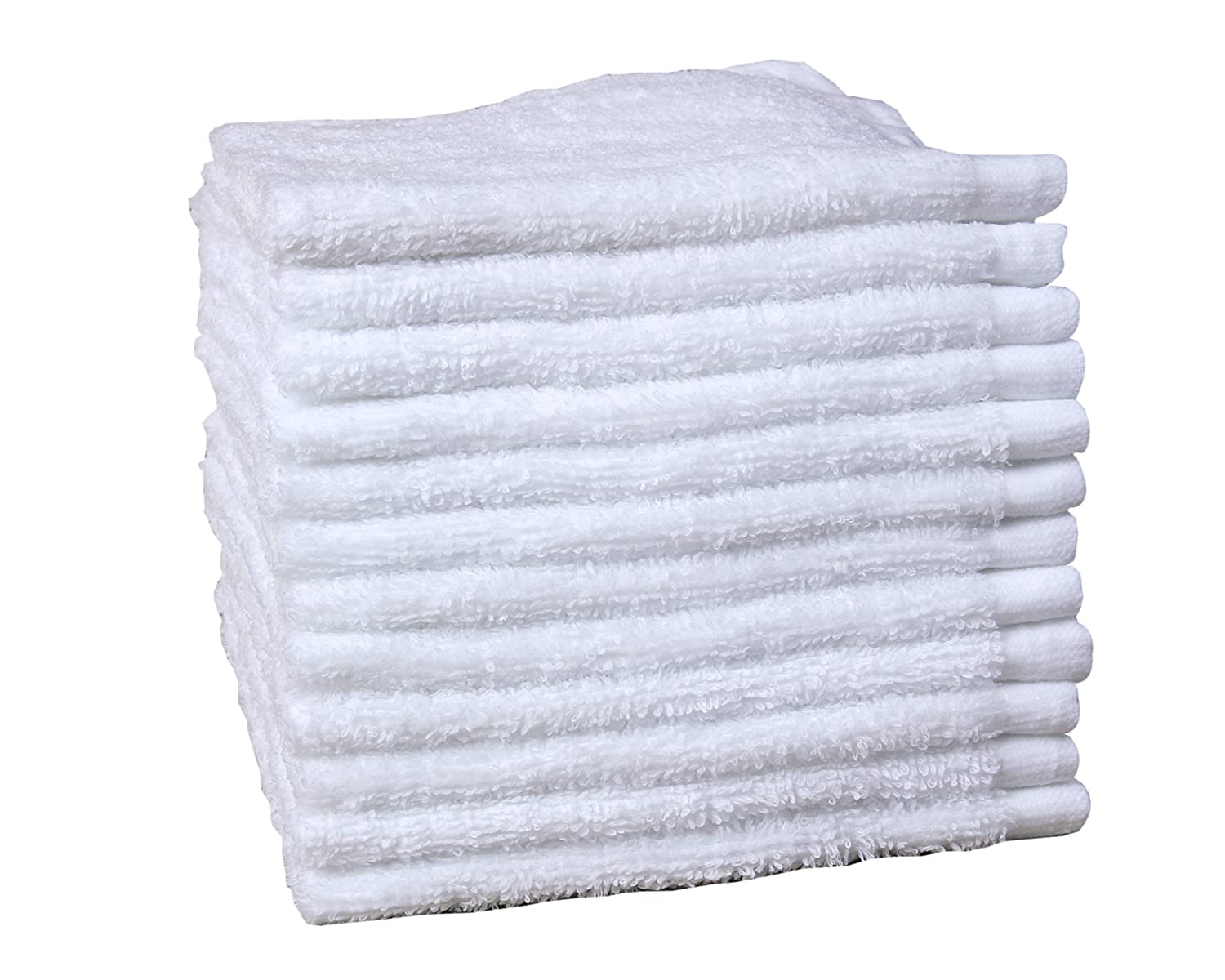 Jonny&Lora 12-Pack White 100% Cotton Compressed Washcloths 12
