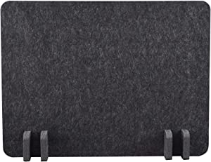 """ReFocus Raw Freestanding Acoustic Desk Divider – Reduce Noise and Visual Distractions with This Lightweight Desk Mounted Privacy Panel (Anthracite Gray, 21"""" x 16"""")"""