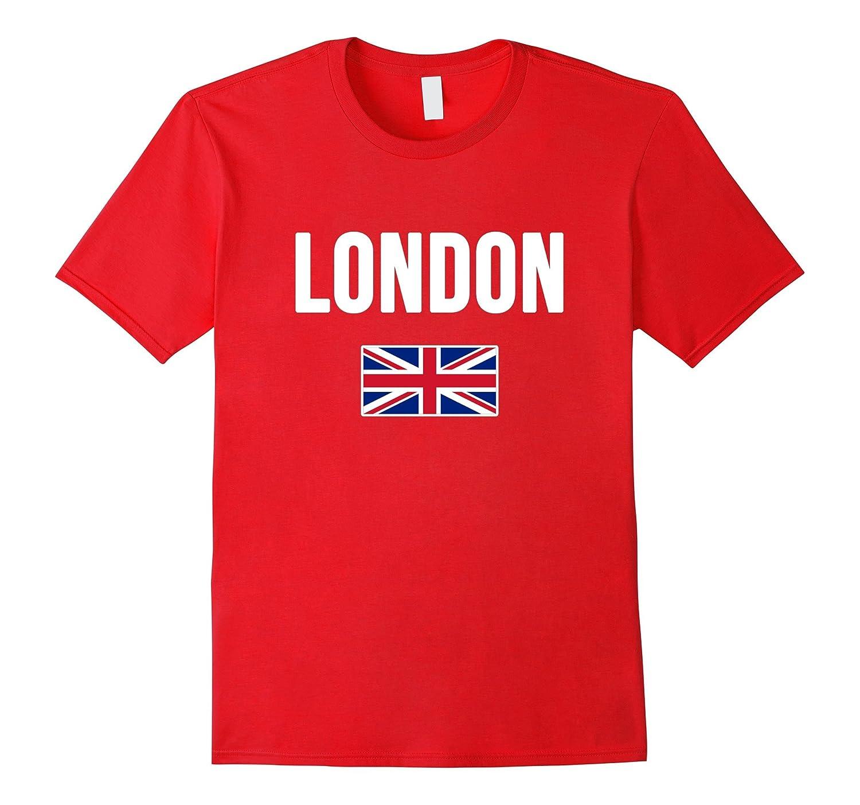 London England T-shirt English Souvenir Uk Flag British Tee-Vaci