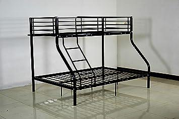 Etagenbetten Metall : Riana metall rahmen u dreifach sleeper etagenbetten schwarz und