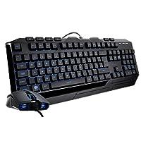 Cooler Master Devastator II / Blue LED Mem-chanical Gaming Keyboard and Mouse Combo 'Full Size, Blue LED, Mem-Chanical' SGB-3030-KKMF1-UK
