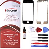 ProKit Adhesive Iphone 5 glass lens lcd repair Kit with LOCA UV Glue replacement for Apple iPhone 5 - Black
