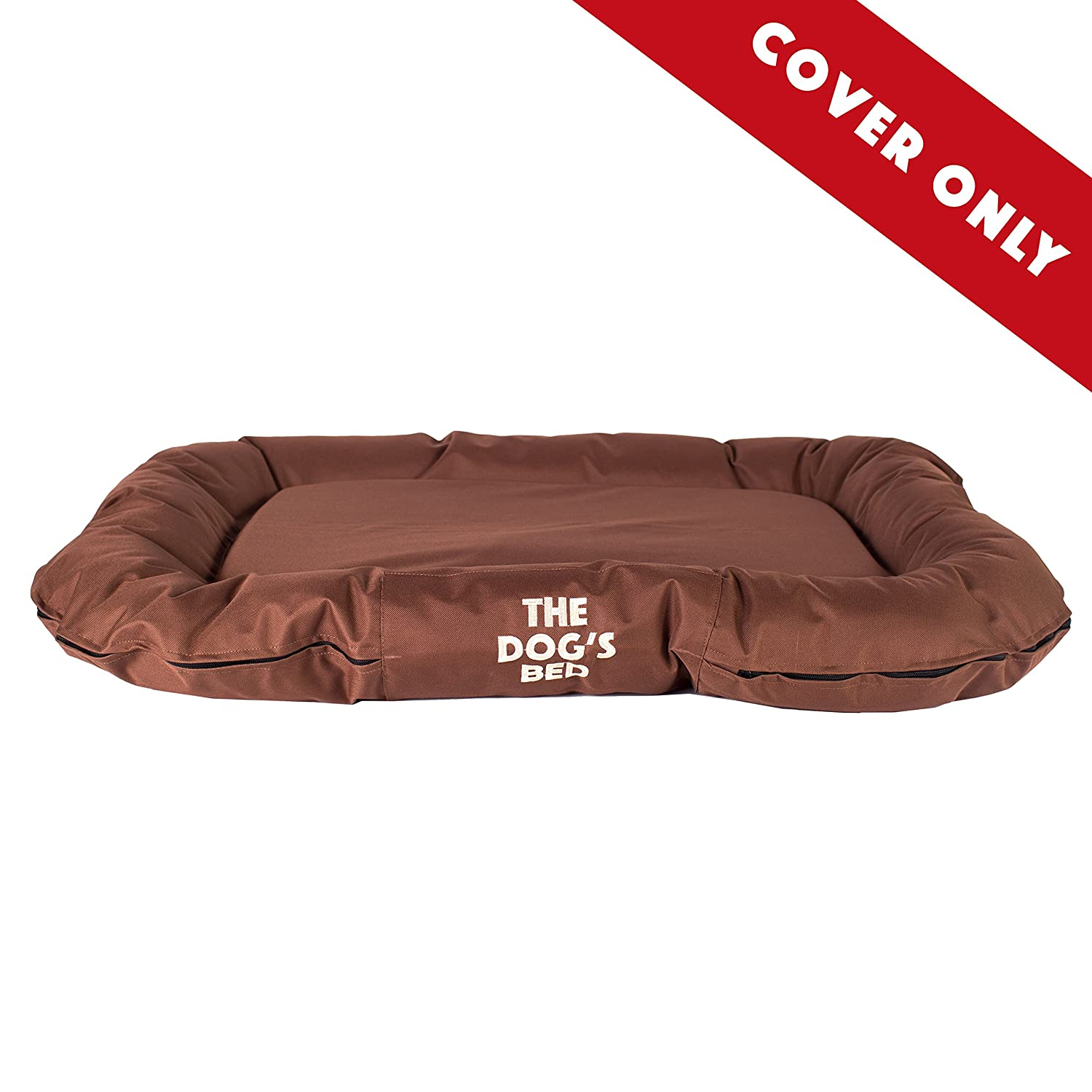 Brown Large Cover Brown Large Cover Replacement Cover ONLY for The Dog's Bed, Washable Quality Oxford Fabric, Large 37.5  x 27.5