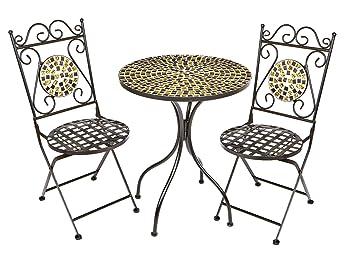 Perfekt Fougeres Bistro Garten Set Mosaik Fliesen Deko Metall Tisch U0026 2 Stühle