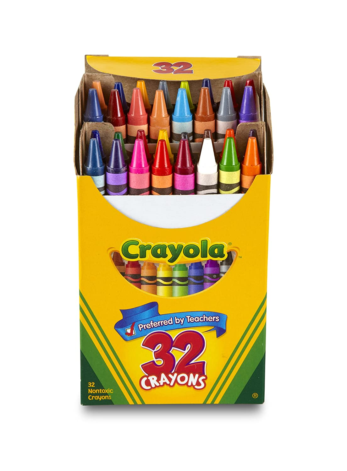Assorted Color 5//16 x 3-5//8 Dealfisher 52-0012 5//16 x 3-5//8 Crayola Non-Toxic Crayon in Tuck Box 12 Pack