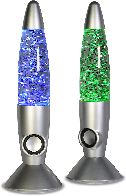 MoreBuyBuy Altavoz portátil inalámbrico Bluetooth con luz LED para bailar y agua, luz nocturna, con miles de flores brillantes para ordenador de sobremesa y cualquier otro producto electrónico