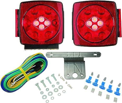 trailer backup light wiring amazon com blazer c7425 led square trailer light kit with  blazer c7425 led square trailer light