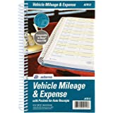 "Adams ABFAFR12 Vehicle Mileage and Expense Journal, 5-1/4"" x 8-1/2"", Fits the Glove Box, Spiral Bound, 588 Mileage…"