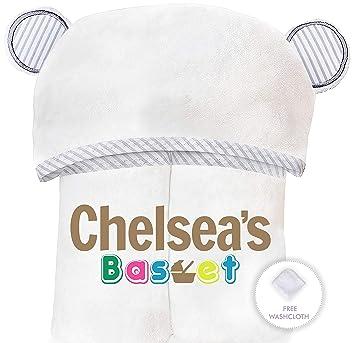 Amazon.com: Chelseas - Toalla de bambú orgánico con capucha ...