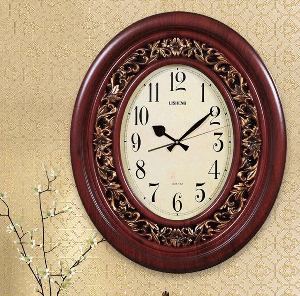 TXXM リビングルームヨーロッパの高級クォーツ時計の壁時計ミュート現代の古典的な壁時計 (色 : B) B07F9TY6KK B B