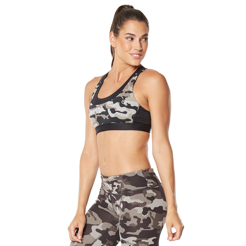 TALLA XS. Zumba Fitness® Mujer WT Bra Camo Cross Back