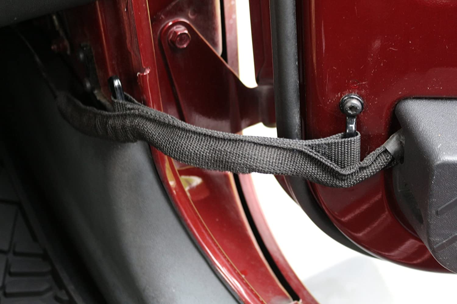 81ndismbH L._SL1500_ jeep wrangler door limiting straps with wire protecting harness  at bakdesigns.co