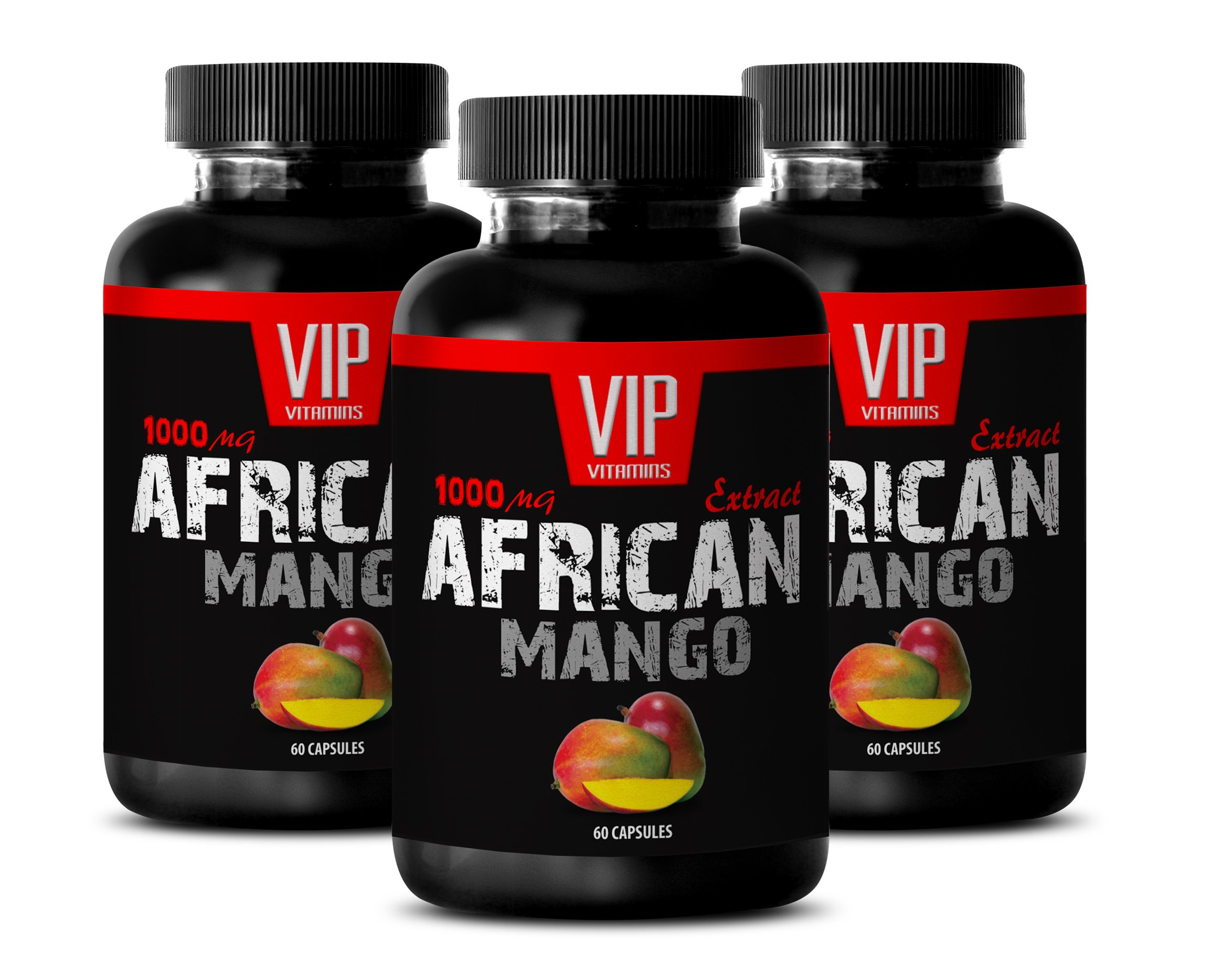 Libido booster for men sex - AFRICAN MANGO EXTRACT 1000MG - Mango supplement - 3 Bottle (180 Capsules)