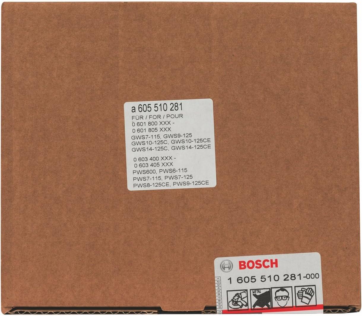 125 mm Bosch 1 605 510 281 pack de 1 Caperuza de aspiraci/ón para lijar