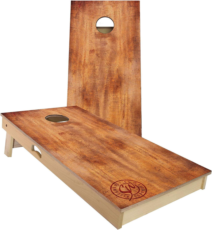 Slick Woody のバーント ウッド コーンホール セット、4 x 2 フィート