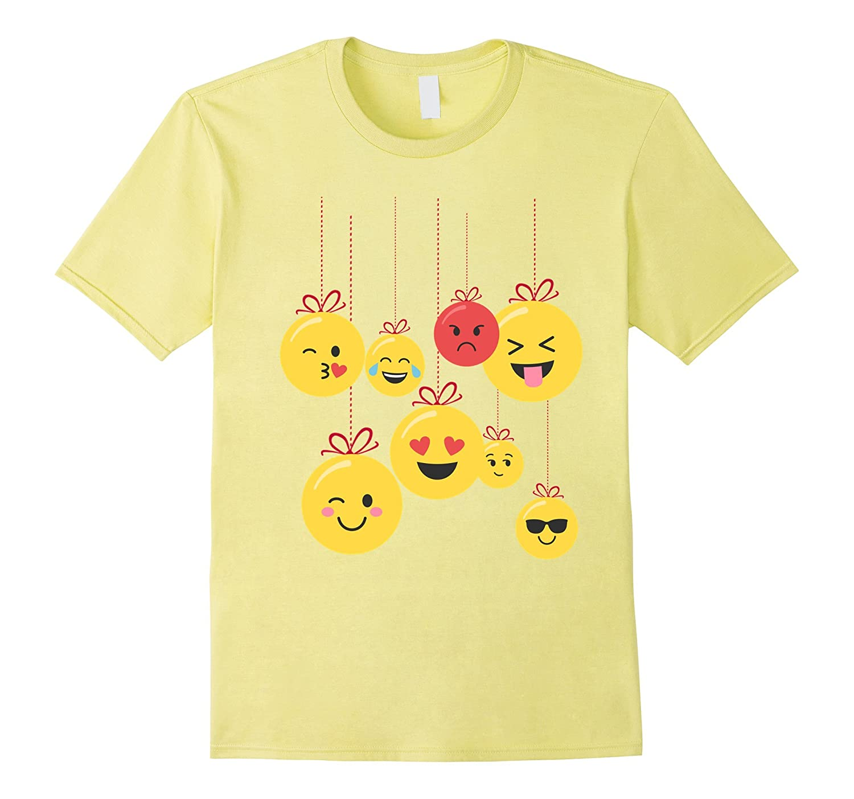 Emoji Ornament Christmas Gift Shirt for Kindergarten Girls-T-Shirt