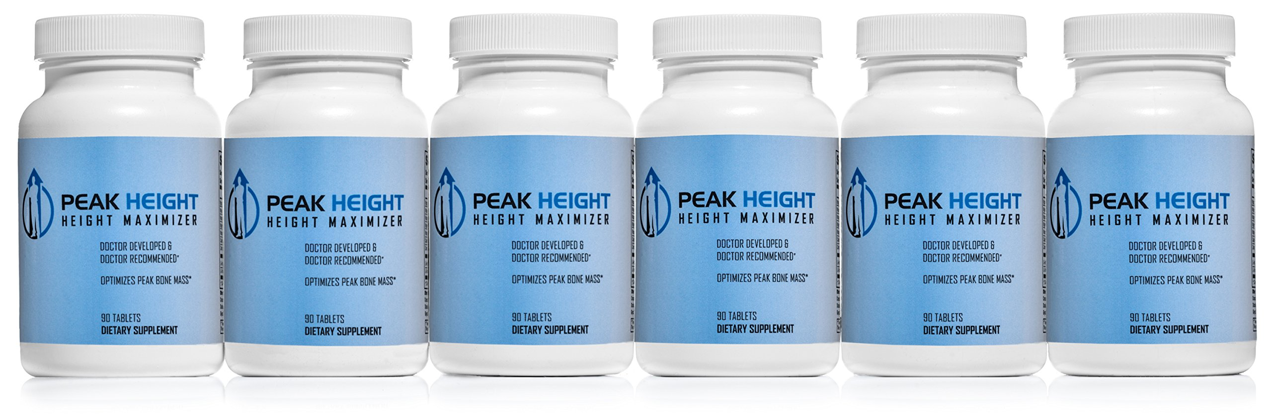 1 Grow Taller Height Pill Supplement-Peak Height 6 Month Supply-Height Supplement-Doctor Recommended, 90 tablets( pack of 6) by Grow Taller Supplement