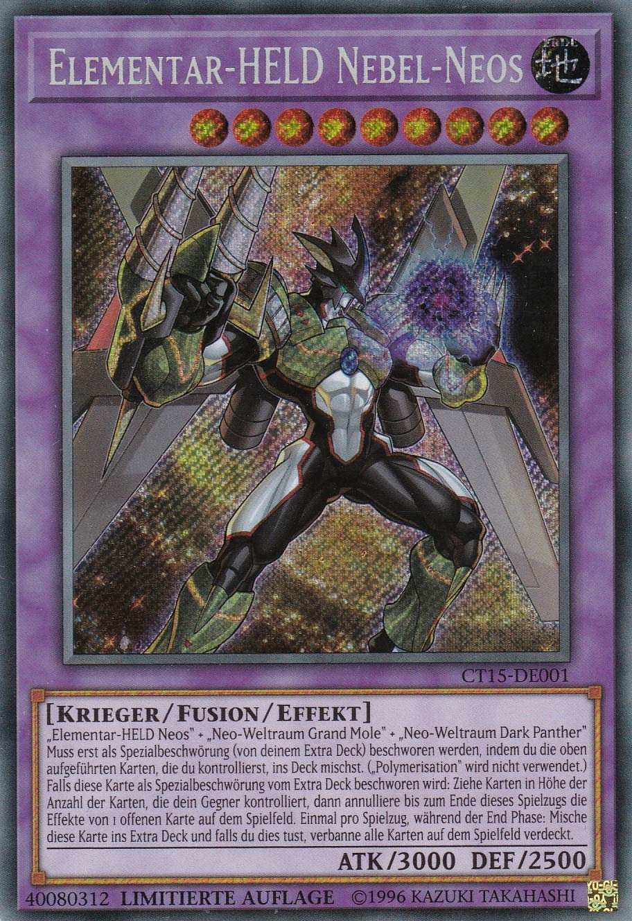 Elementar-Held Nebel-Neos Yu-Gi-Oh Limitierte Auflage Deutsch CT15-DE001 Secret Rare