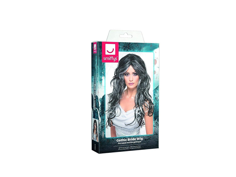 Smiffys - Peluca Negra y Violeta para Mujer: Amazon.es: Juguetes ...