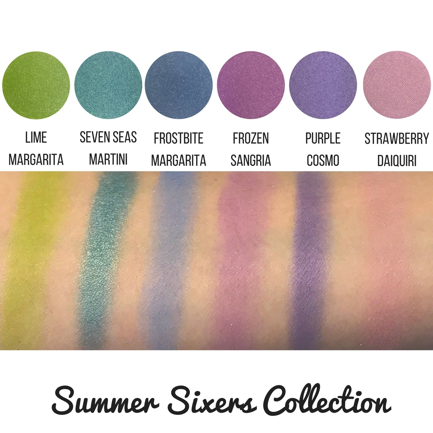 Summer Sixers Eyeshadow Quad Palette – 4 Highly Pigmented Single Powder Eye Shadow Pans, Magnetic Refill 26mm, Professional Quality Makeup, Paraben and Gluten Free, Cruelty Free Cosmetics Made in USA
