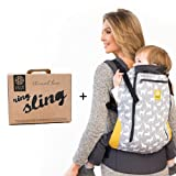 Amazon Price History for:LILLEbaby Carry Me Bundle - 2 items: Oh Deer 3-1 CarryOn All Seasons Toddler Carrier and Ring Sling Magic (Black)