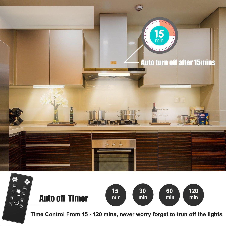 LED Unterbauleuchten, NOTENS 3 Pack Fernbedienung Küche unter ...