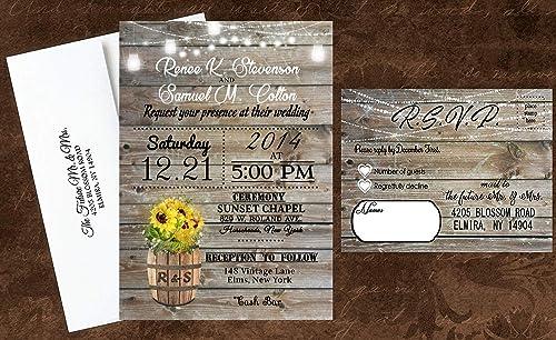 Wedding Invitation Custom Wedding Invitation Suite Printable Wedding Stationery Custom Wedding Invitation Set