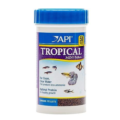 API Tropical Mini Pellets Pellets hundimiento Mini Pescado Alimentos 1.7-Ounce contenedor
