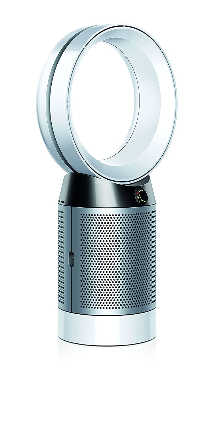 Dyson Pure Cool, DP04-HEPA Air Purifier and Fan WiFi-Enabled, Large Rooms, Automatically Removes Allergens, Pollutants, Dust, Mold, VOCs, White Silver