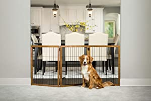 Carlson Pet Products Design Paw Extra Tall 62-Inch Super Wide 3 Panel Premium Wooden Pet Gate