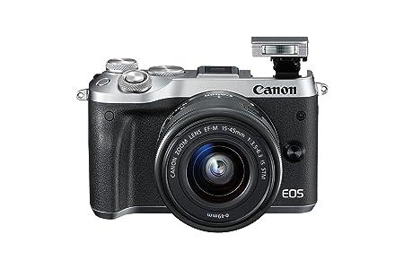 Canon M6 - Cámara sin Espejo, Color Plateado: Amazon.es: Electrónica