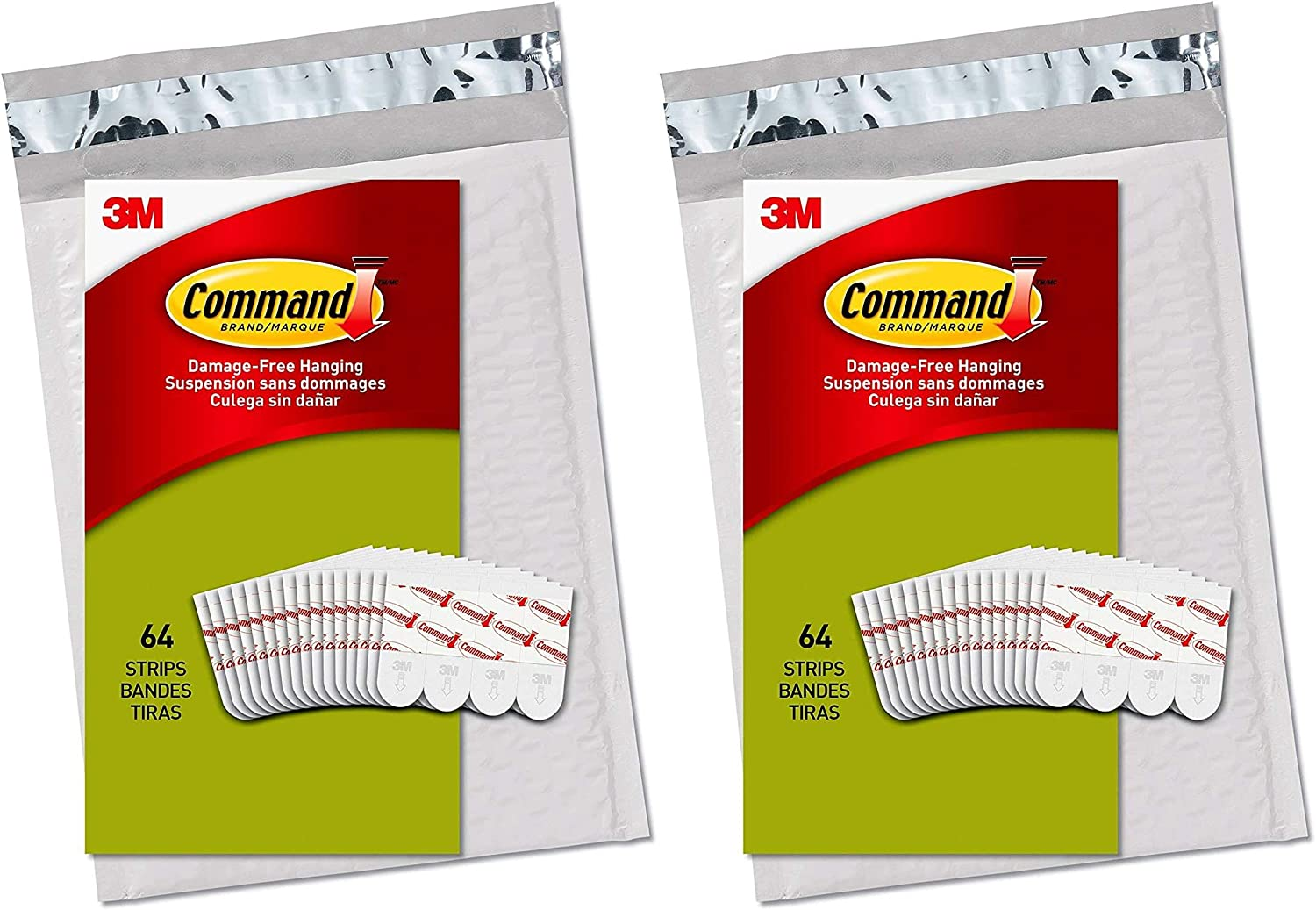 64 Pack of 2 Command PH024-64NA Small White Poster Strips
