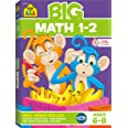 School Zone - Big Math 1-2 Workbook - Ages 6 to 8, 1st Grade, 2nd Grade, Addition, Subtraction, Word Problems, Time, Money, F