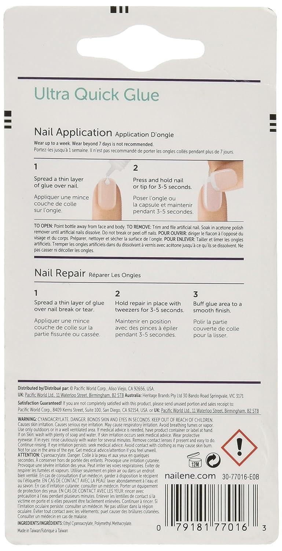 Nailene, Pegamento de uñas ultra rápido transparente, 3 g: Amazon.es: Belleza