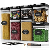 Chef's Path Airtight Food Storage Container Set - 7 PC Set - Labels & Marker - Kitchen...