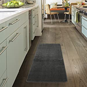 """Ottomanson softy collection Runner rug, 2'2"""" x 6', Gray"""
