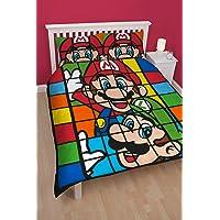 Nintendo Super Mario Retro doble edredón y funda