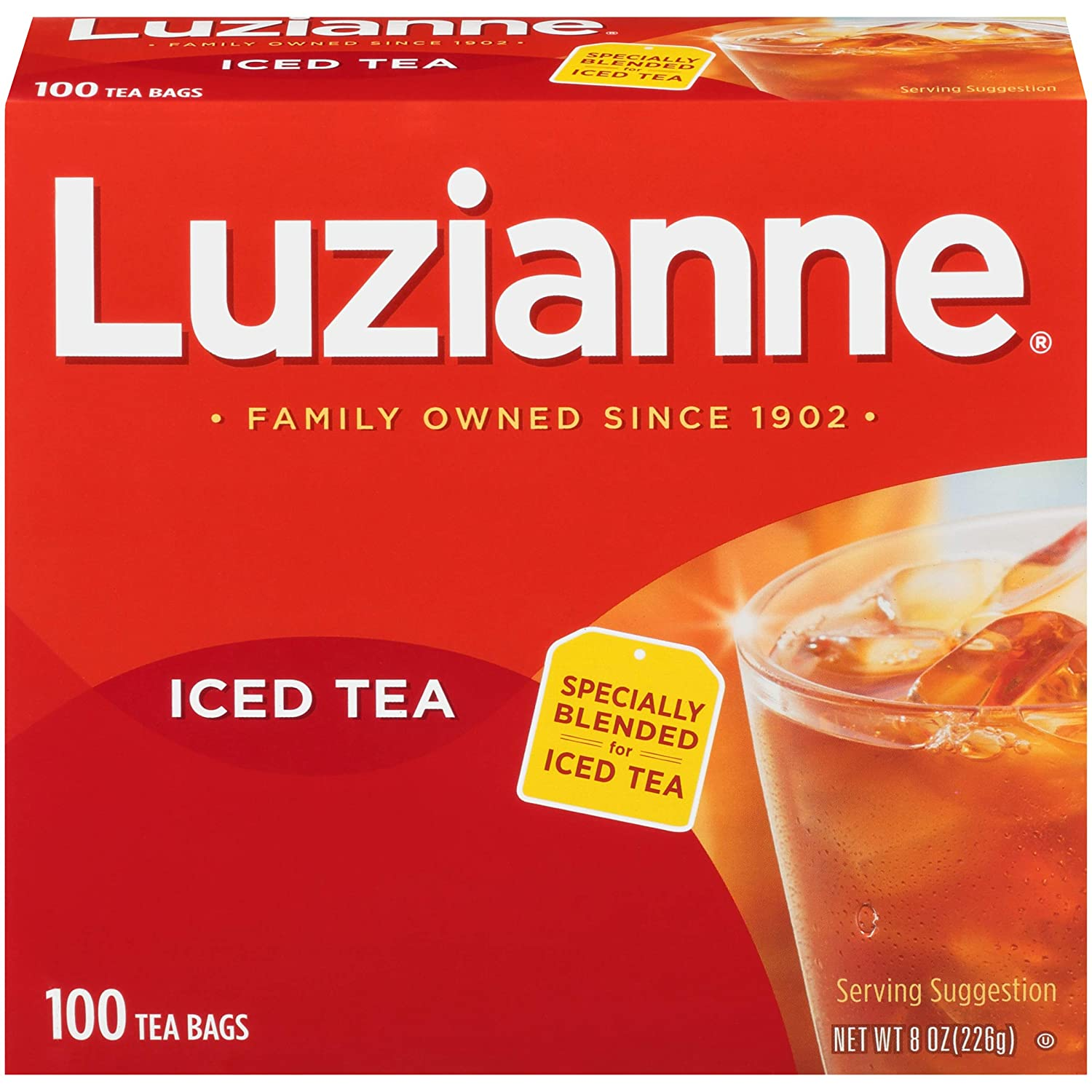 Luzianne Specially Blended for Iced Tea Bags, 100 Count