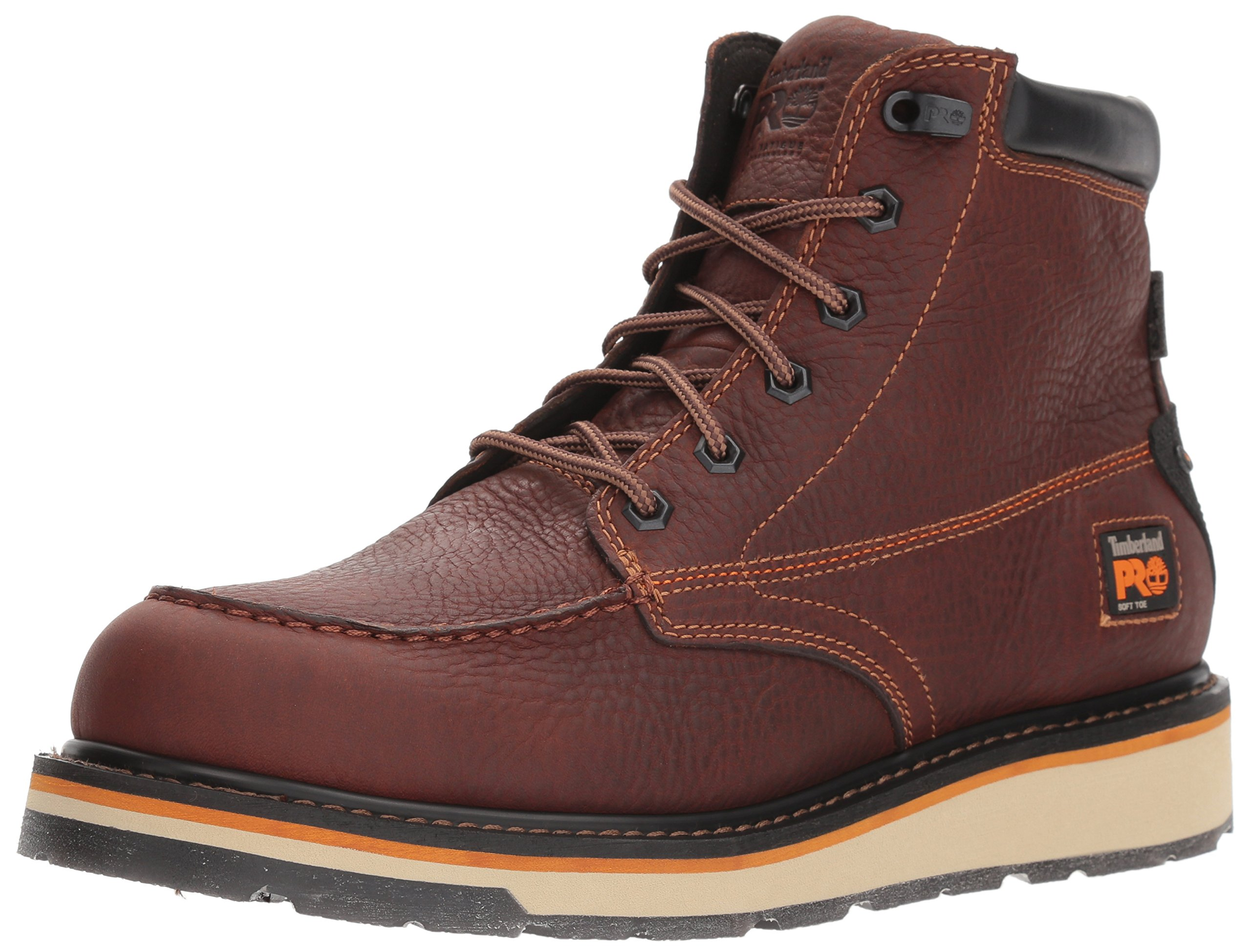 Timberland PRO Men's Gridworks Moc Soft Toe Waterproof Industrial Boot, Brown, 11.5 W US