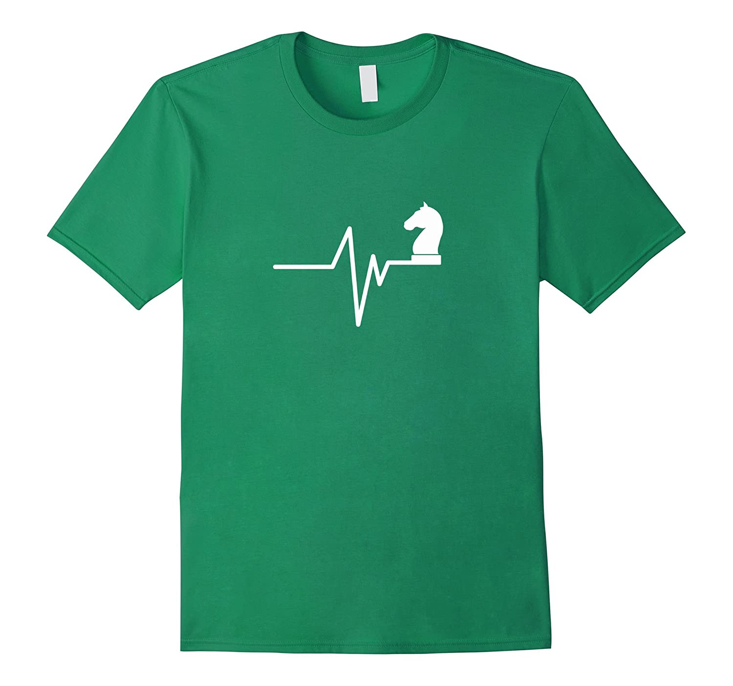 Chess Heartbeat - Funny Chess Player Checkmate Humor T-Shirt-Vaci
