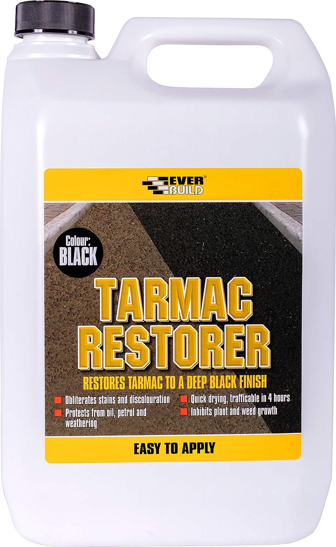 Everbuild Tarmac Restorer 5 Litre Restores Tarmac To A Deep Black Finish