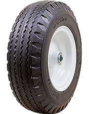 "Marathon 4.10/3.50-6"" Flat Free Tire on Wheel, 3"" Hub, 5/8"" Bearings"
