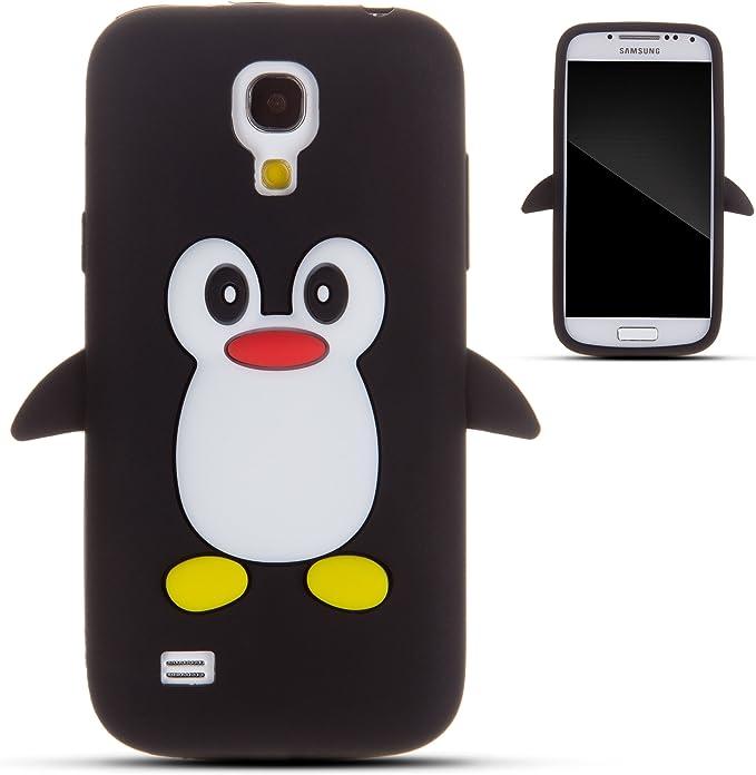Zooky® negro silicona pingüino funda / carcasa / cover para Samsung Galaxy S4 MINI (I9190): Amazon.es: Electrónica