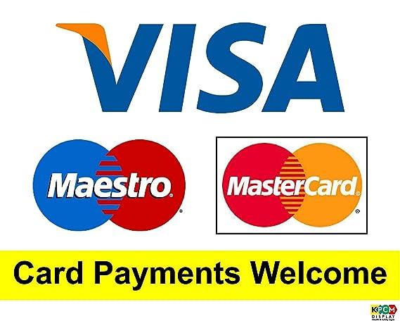 Pagos con tarjeta de bienvenida tamaño grande cuadrado 150 x ...