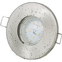 Badkamerinbouwspot Aqua IP65 | 230 Volt GU10 5 Watt LED-lampen warm wit 2700 Kelvin - 450Lumen | voor badkamer - sauna…