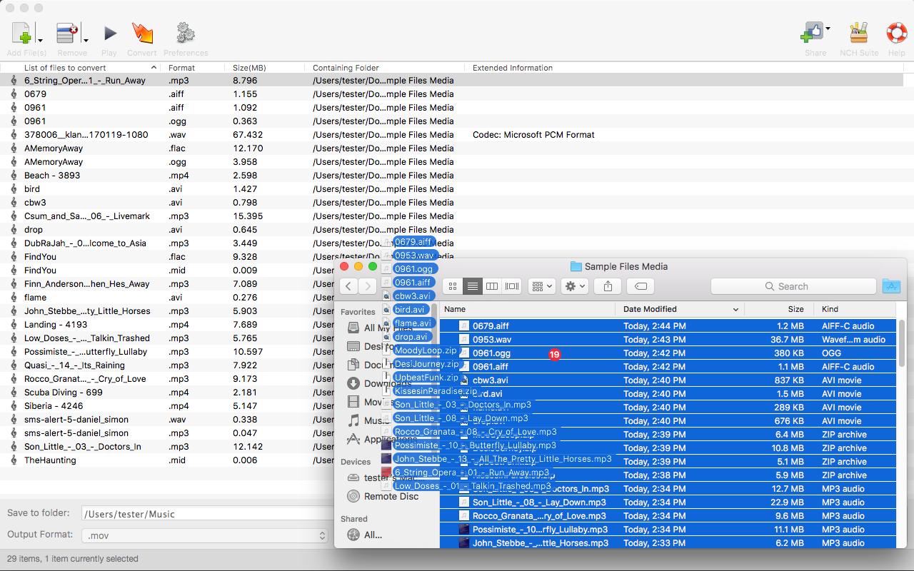 Switch Free Audio File Converter - Converts MP3, WAV, WMA, - Import