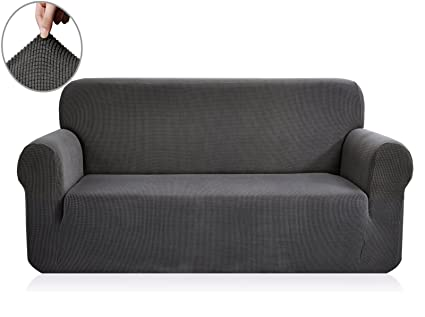sofa covers. Fine Covers Chunyi Jacquard Sofa Covers 1Piece Polyester Spandex Fabric Slipcover  Loveseat Gray For L