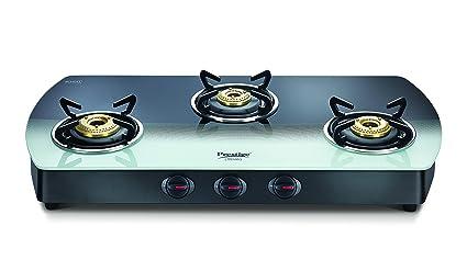 3327b7bce71 Buy Prestige Premia Glass 3 Burner Gas Stove (Black and White ...