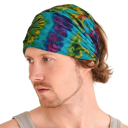 CHARM Casualbox | Tie-Dye Headband Bandana Boho Hippie Retro Flower Psychedelic 60s